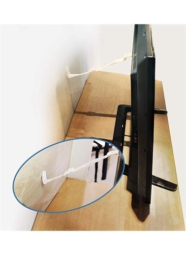 Miny Baby MB-753 Eşya Tv Sabitleme Deprem Güvenliği Kayışı-Metal Başlıklı Beyaz